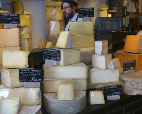 Neal's Yard Dairy: Mecca for cheese lovers. Photo: Julia Rogers.