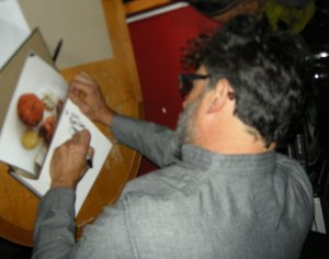 We obtain the obligatory autograph from Chef.