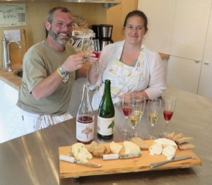 Glen Symons and Heather Robertson toast they first cheese creations.