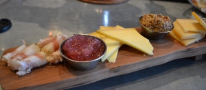Cheese and charcuterie locally sourced at Le Chien Bistro.