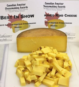 Clover, made by Mira Schenkel, Best of Show at the first Canadian Amateur Cheesemaking Awards.