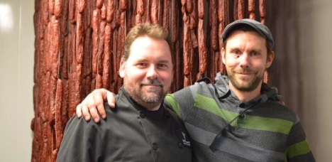 Chef Derek MacGregor (left) has joined Mike MacKenzie at Seed to Sausage.