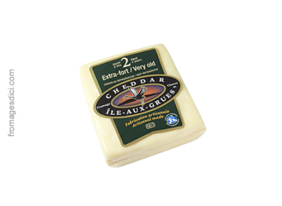 Ile-aux-Grues, 2-year cheddar, takes its name from its island home in the St. Lawrence River near Québec City.