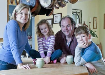Glasgow Glen Farm is a family affair for Jeff MCourt, his wife and two children.